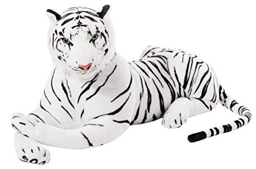 Firestar Muñeco De Peluche Animal Creativo, Muñeco Tigre, Muñeco De Venado, Muñeco Panda, Lindo Peluche (Tigre Blanco,70cm)