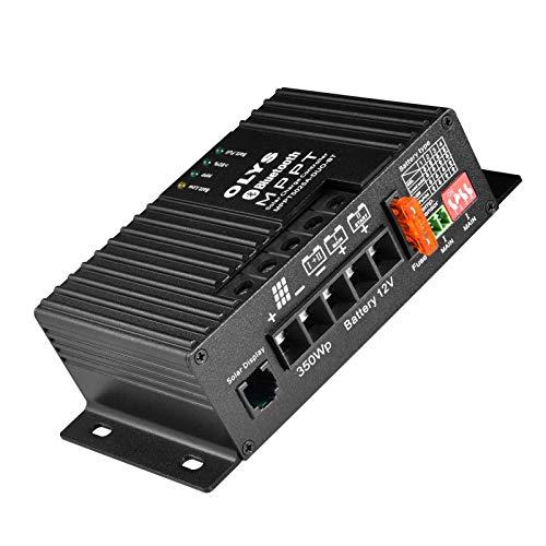 MPPT Solar Laderegler Solarladeregler Bluetooth Integriert 25A / 12V Für Reisemobil, Remote-Temperaturkabel Für GEL-AGM Versiegelte Überflutete Lithium-Batterie, Ladecontroller