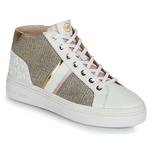 Michael Kors Chapman Mid - Zapatillas deportivas para mujer, de piel, 43S1CHFE6D Wht Rainbow, color blanco Blanco Size: 36.5 EU