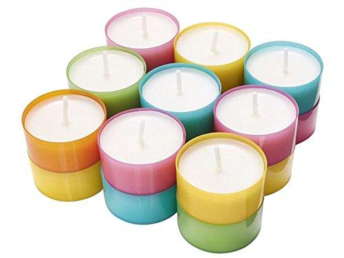 4 x 18 pezzi (72 pezzi) Melinera candeline in diversi colori