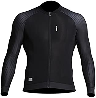 LAMEDA Men's Long Sleeve Cycling Jersey Full Zip Bike Biking Shirt With Pockets - Breathable and Quick Dry Bodysuits