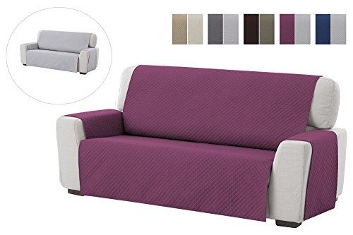 textil-home Salvadivano Trapuntato Copridivano Adele 4 posti Reversibile. Colore Malva