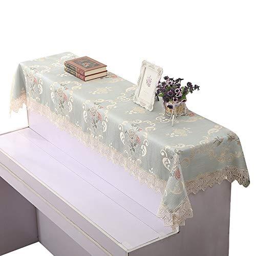 Yaunli piano deksel European Style Piano halve afdekking afdekking tip doek piano handdoek Upright stof luxe instelbare piano deksel