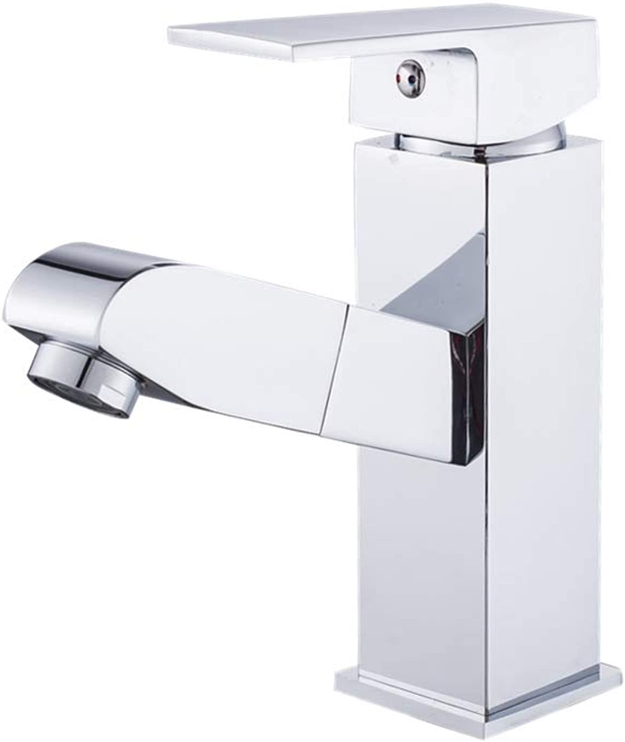Bathroom Sink Basin Lever Mixer Tap Cold and Hot Water Faucet Copper Pull Faucet Single Hole Cold and Hot Face Basin Faucet Bathroom Cold and Hot Face Basin