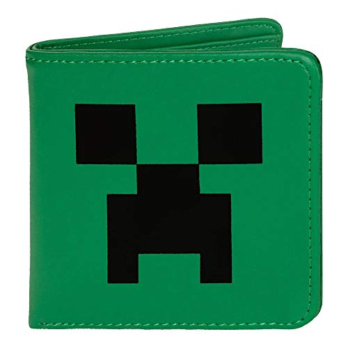 Minecraft Creeper Gesicht/Face /Green/grün Leather Wallet/Lederbörse