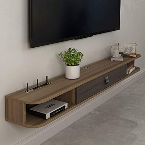 ZY-XSP Schwimmdock Regale Wand- Tv-Möbel Tv Component Racks Wifi Wireless...