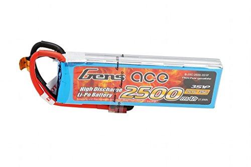 Gens ace Batteria LiPo 2500mAh 3S 11.1V 25C per RC Drone Elicottero Aereo FPV Quadcopter RC Auto
