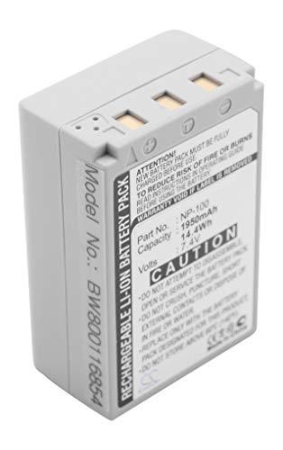 vhbw Li-Ion batteria 1950mAh (7.4V) per fotocamera digitale DSLR Casio Exilim Pro EX-F1, EX-F1BK