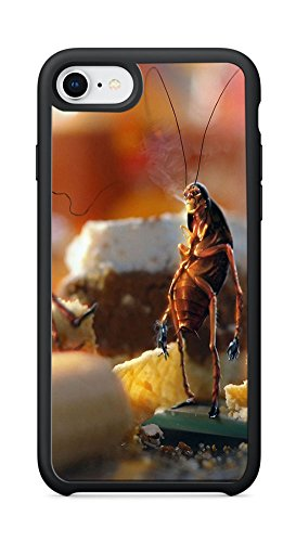 VUTTOO Case for Apple iPhone 8 4.7inch (Not Fit Plus) - April Fools Day Cockroaches Bread Kitchen Case - Shock Absorption Protection Phone Cover Case