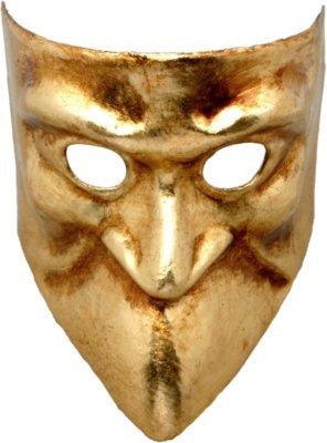 Karneval Venezianische Maske - Bauta oro