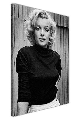Kunstdruck auf Leinwand, gerahmt, Marilyn Monroe, Schwarz und Weiß, canvas, schwarz / weiß, 06- A0 - 40