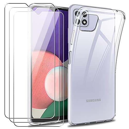 Reshias Funda para Samsung Galaxy A22 5G con Dos Cristal Templado Protector...