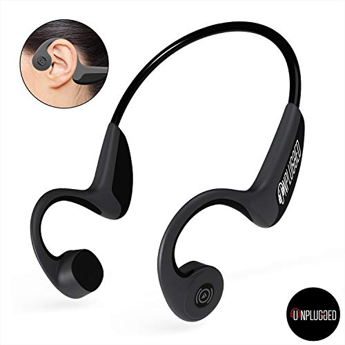 Unplugged Auriculares Conduccion Osea Z8 más Seguros Higiénicos - Cascos Bluetooth Deportivos de Mejor Calidad - Auriculares para Correr, Caminar, Trotar, Ciclismo, Senderismo - Auricular Inalámbrico