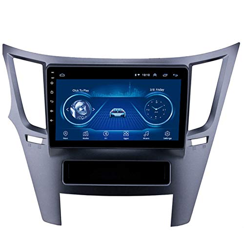 Android 10.0 Radio Stereo Coche Navegación GPS 9 Pulgadas 2.5D HD Pantalla Táctil Ser Aplicable Subaru OUTBACK (2009-2014) Apoyo Cámara De Visión Trasera/WIFI/ Mirror Link/FM AM/Mandos Volante,2G+32G