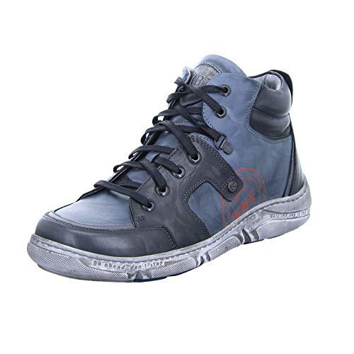 KRISBUT 6474-2 Herren Schnürer Halbschuh Sneaker High-Top Schwarz Blau (Blue) Größe 44 EU