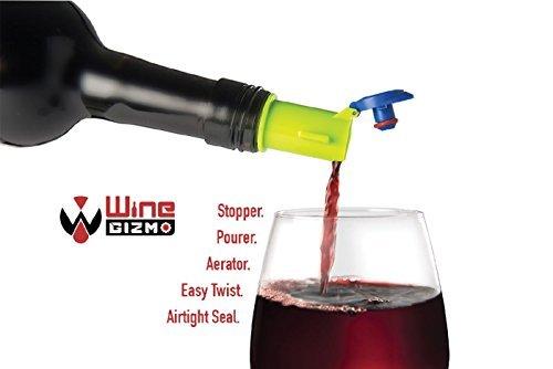 Wine Stopper, Aerator, Pourer (Purple)