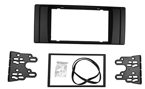 Maxiou Double Din Facia pour Série 5 E53 E39 Radio Stéréo DVD Dash Installation Trim Kit Fascia Lunette (Double Din)