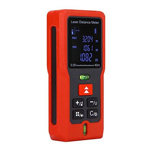 Medidor de distancia digital láser gama Buscador de ruleta de ruler trena cinta métrica gama herramientas de buscador TT-40