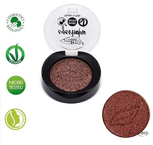 PUROBIO Ombre à Paupières n.21 - Rouge Cuivre Shimmer - Texture Souple, Pigmentation Haut, Look Professional - 3,5 g