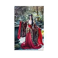 セクシーなキツネの女神 キャンバス アート ポスターとウォール アート イメージ プリント モダンな家の寝室のインテリア ポスター 08×12inch(20×30cm)