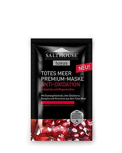 Salthouse Luxus Totes Meer Premium ANTI-OXIDATION MASKE - 10 Einheiten mit je 2 x 5ml (für 20 Anwendungen)