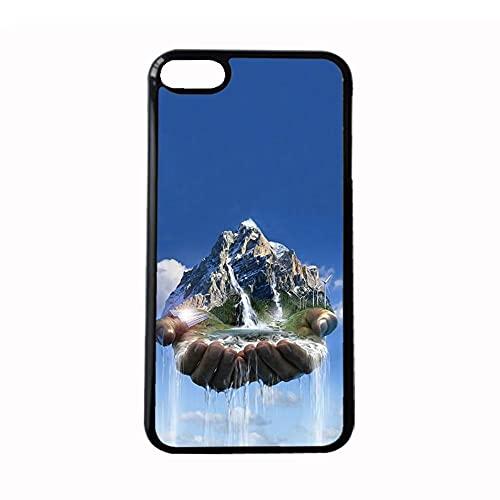 Generic Womon Antidetonante con Water Flow Waterfall Compatibile con iPhone 5 5S Se Guscio del Telefono Pc