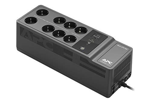 APC Back-UPS Essential BE850G2-FR – Überspannungsschutz-Wechselrichter mit 850 VA Back-UPS (8 Steckdosen, Überspannungsschutz, 2 Schnellladeanschluss USB Typ A und Typ-C)