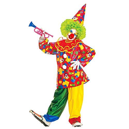 WIDMANN Disfraz Infantil de Payaso Funny 38585, con Cuello, pantaln y Sombrero, Divertido, Payaso Circo, Carnaval, Fiesta temtica