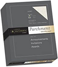 Parchment Specialty Paper, Ivory, 24 lbs., 8-1/2 x 11, 500/Box, Sold as 1 Ream