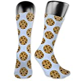 Best Men's Novelty Crazy High Knee Boot Socks - Cute Ice Cream Cookie Sandwich Funny Patterned Dress...