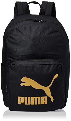 PUMA Originals Backpack Mochilla, Unisex Adulto, Black/Gold, OSFA