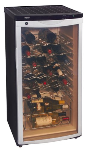 Haier BC112G 30-Bottle Wine Cellar, with Contoured Smoked Glass Door
