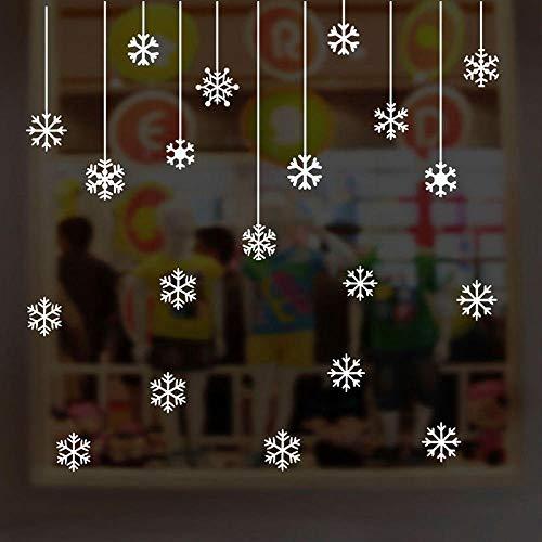 Cooldeerydm Kerstmis sneeuwvlok muursticker decoratie huis winkel raam decoratie glas festival kerst muur DIY Art decals-wit