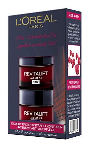 L'Oréal Paris RevitaLift Laser X3 Tag und Nacht Gesichtspflege-Mini-Set