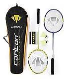 Carlton Badmintonset Match 100 Set de bádminton, Unisex Adulto, Azul, Amarillo y Blanco, Talla única
