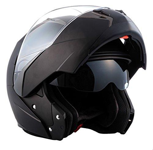 Preisvergleich Produktbild Soxon Flip Up Helm,  Schwarz Matte,  XXL