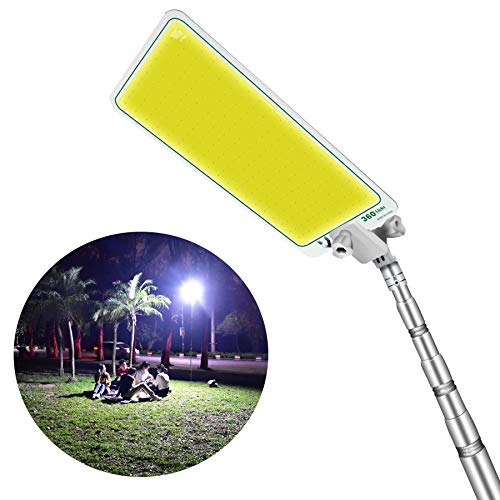 CONPEX Camping Lights Outdoor and Lanterns, 65W 6500 Lumen 12V Portable Telescopic Fishing Rod Lamp, Travelling Emergency House…