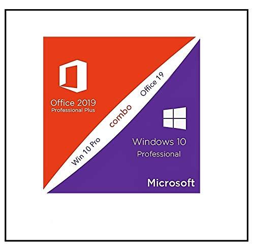 BUNDLE MS Windows 10 Pro & Office 2019 Pro Plus - 32 / 64 Bit - Lizenz Key - Produktschlüssel - jeweils 1 PC + Anleitung | Aktivierungscode per E-Mail vorab + Postbrief