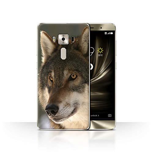 eSwish Hülle/Case für ASUS Zenfone 3 Deluxe ZS570KL / Jagdbeute Muster/Wildes Tier Raubtier Wolf Kollektion