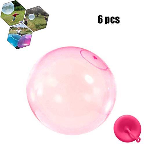 Bubble Ball, Enfants Extérieurs Doux Squishies Air Rempli d'eau Bulle Bubble Ball Blow Up Ballon Jouet Fun Party Game pour Enfants Cadeau Gonflable,Rose,XL