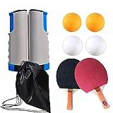 DoGeek Tenis de Mesa Portable Pingpong Table Adecuado para Escuela, Familia, Club Deportivo, Oficina (Gris- Azulado)