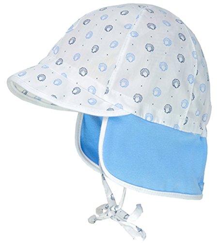 maximo Schirmmütze z.binden mit Nackenschutz in Weiß/Hellblau Maritim UV 30 996300 (41)