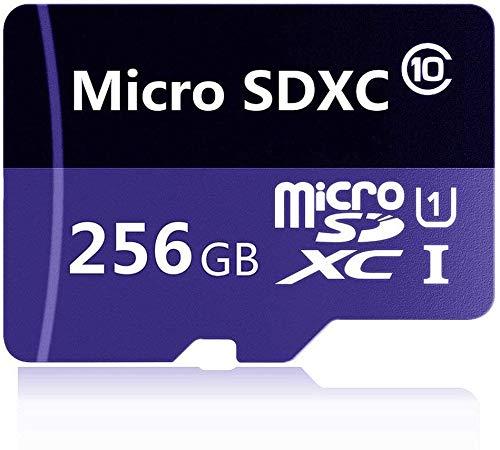 Tarjeta de memoria Micro SD de 128 GB, 256 GB, 512 GB, 1024 GB, clase 10, tarjeta micro SDXC SDHC con adaptador (256 GB)