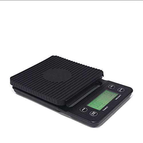 Haizhiyin Las Escalas de Cocina de Cocina de Word Las básculas de Cocina de Vidrio Templado electrónicas se Pueden sincronizar pesando balanzas de Alimentos Negras, Incluidas Las baterías