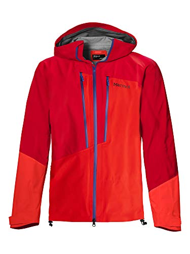 Marmot M. Europe Huntley Giacca Impermeabile, Uomo, Team Red/Victory Red, S