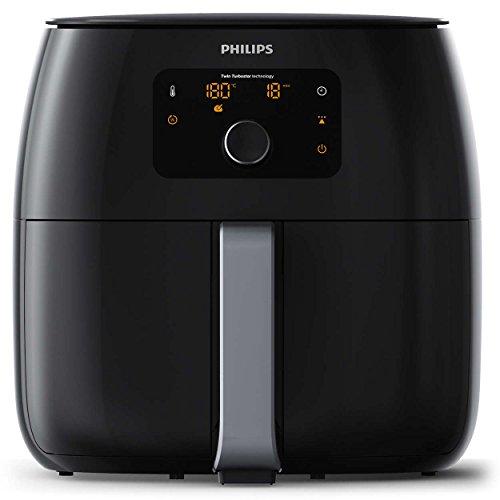 Philips Avance Collection HD9651/90 Fritteuse mit niedrigem Fettgehalt, Einzeln, schwarz, unabhängig, 2225 W