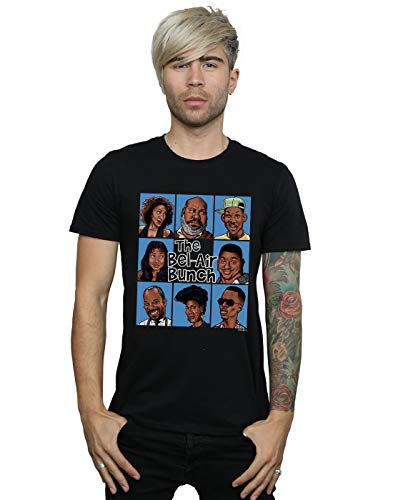 Pennytees Herren The Bel Air Bunch T-Shirt Schwarz Medium