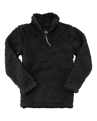 Boxercraft Youth Sherpa Jersey - YQ10, Medium, Negro