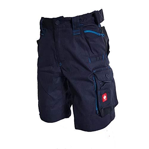 Engelbert Strauss E.S. Kinder Shorts Motion 2020 Arbeitshose Workwear (dunkelblau/Atoll, 122/128)
