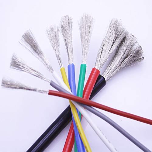 10 Farben 10 Meter weicher Silikondraht 16AWG 10 11 12 13 14 15 17 18 20 22 24AWG hitzebeständig 200° kältebeständig -60° Kabel